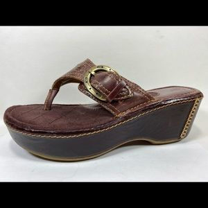 Ariat Leather Clog Thong Sandals Women's 8.5B